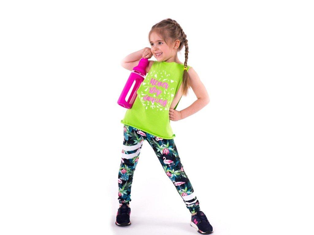 Dívčí legíny se vzorem Best Flamingo - nacvico.cz 73b962420a