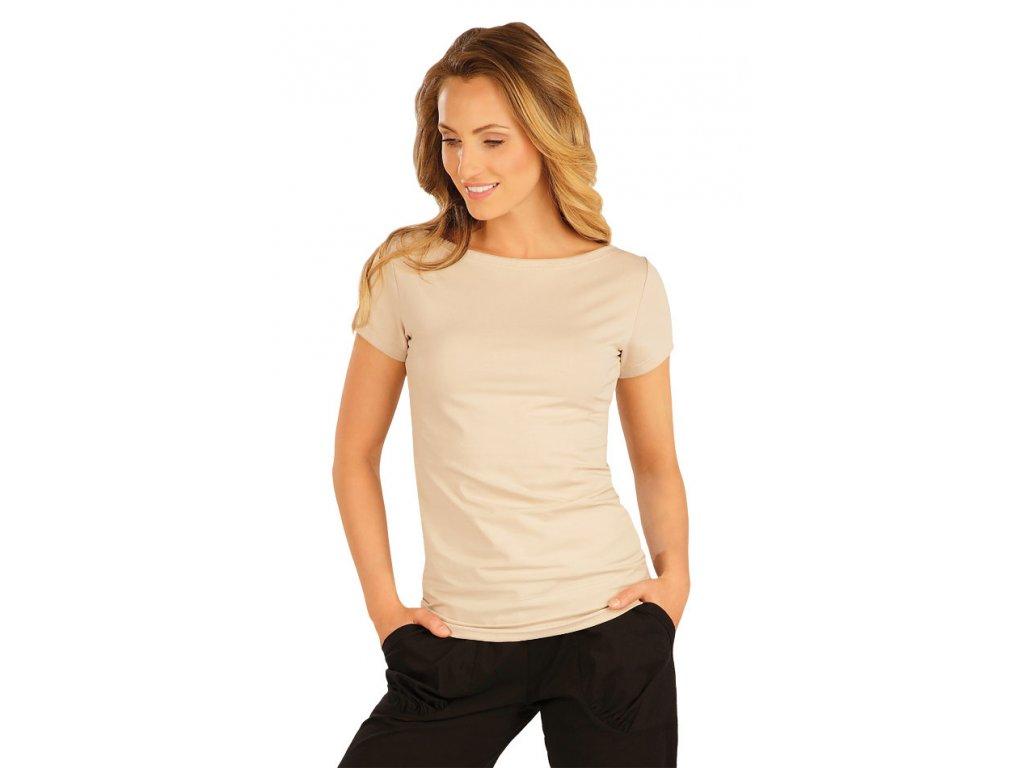 826d7a015f2 Béžové triko s krátkým rukávem Litex 54126 - nacvico.cz