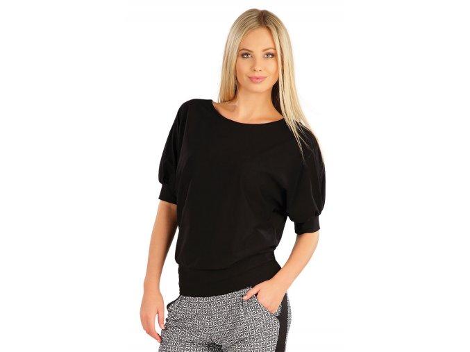 Černé tričko s netopýřím rukávem Litex 58329