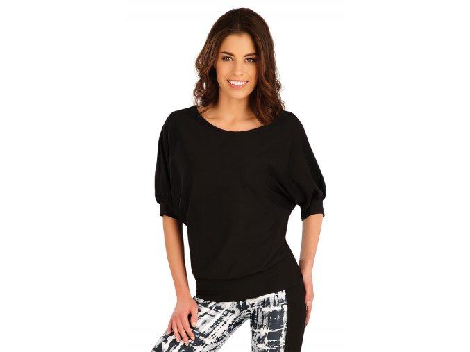 Černé tričko s netopýřím rukávem Litex 5A245