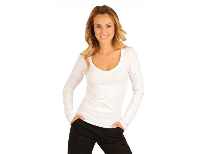 Bílé tričko s dlouhým rukávem Litex 51219
