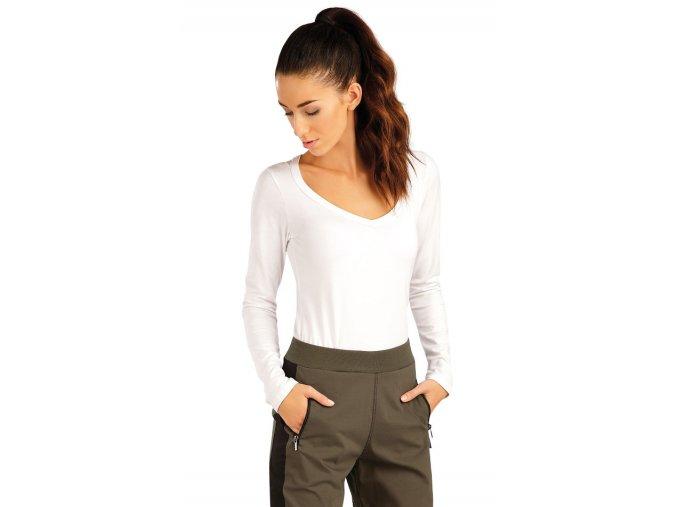 Bílé tričko s dlouhým rukávem Litex 99593