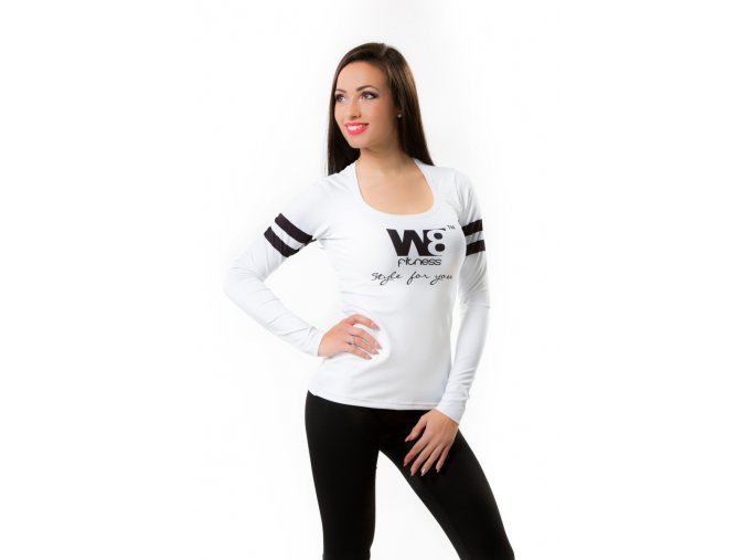 Bílé sportovní triko s dlouhými rukávy Zara