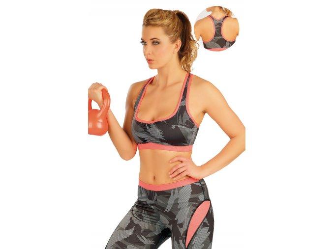 Krátký fitness top s maskáčovým vzorem Litex50070