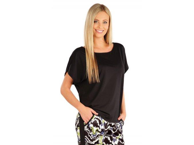 Černé sportovní tričko volnější Litex 58313