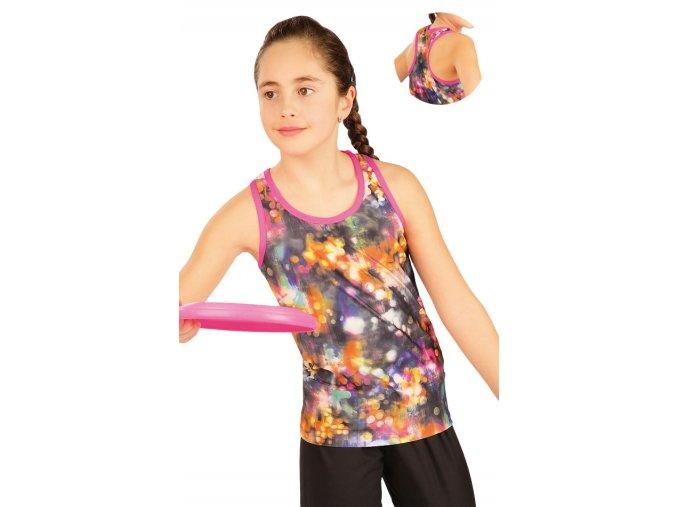Dívčí sportovní tílko s tiskem Litex 50459