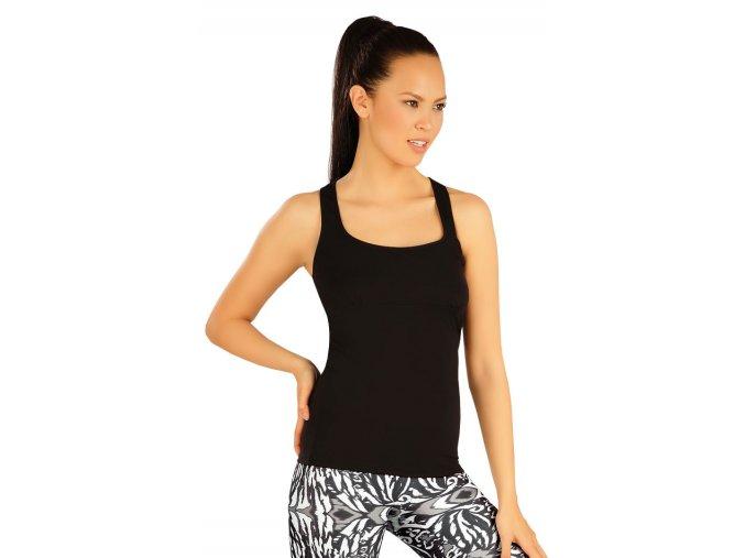Černé fitness tílko Litex 51205