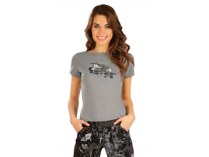 Bavlněné tričko s lodičkovým výstřihem Litex 50158