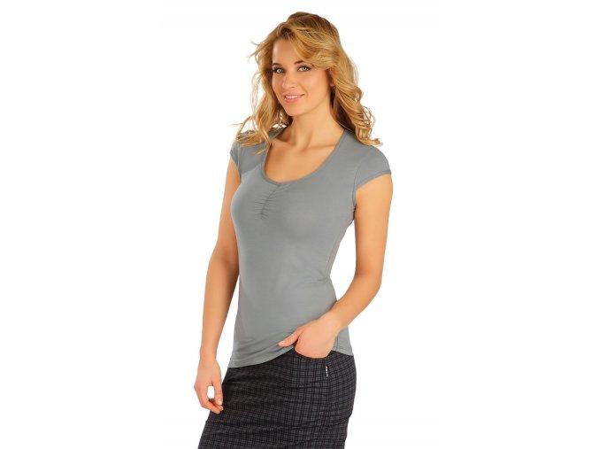 Šedé bavlněné tričko Litex 50160