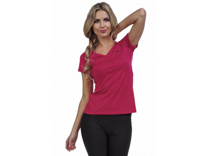 Červené sportovní tričko dámské Draps 25 1