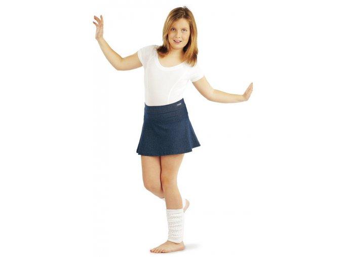 Bílý dívčí dres 99440 na cvičení a tancování Litex