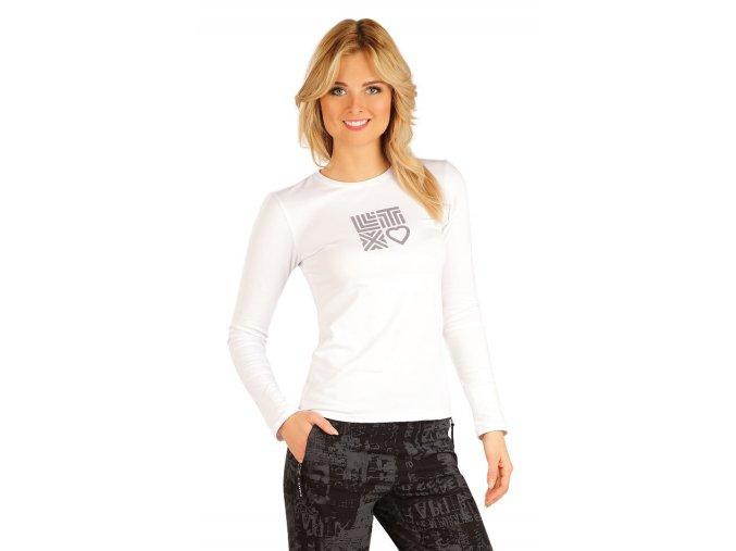Bílé tričko s dlouhým rukávem dámské Litex 54129