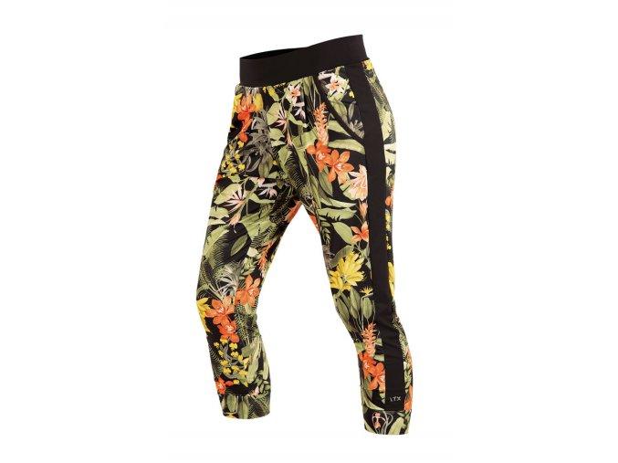 Kalhoty s nízkým sedem s květinovým potiskem Litex 54184