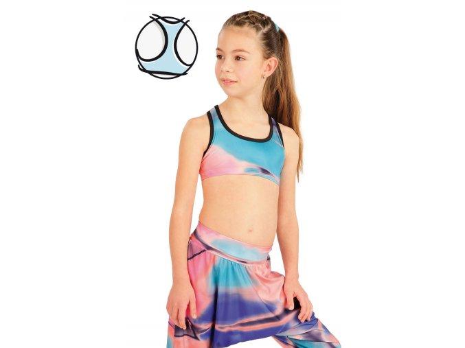 Krátký dívčí sportovní top barevný Litex 55435 Na Cvíčo