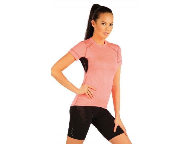 Dámské sportovní tričko reflexně oranžové Litex se síťovinou 54025