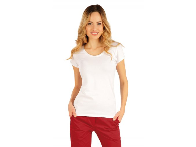 Bílé bavlněné dámské tričko Litex 99591
