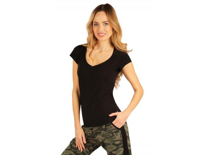 Černé bavlněné tričko dámské Litex 99592