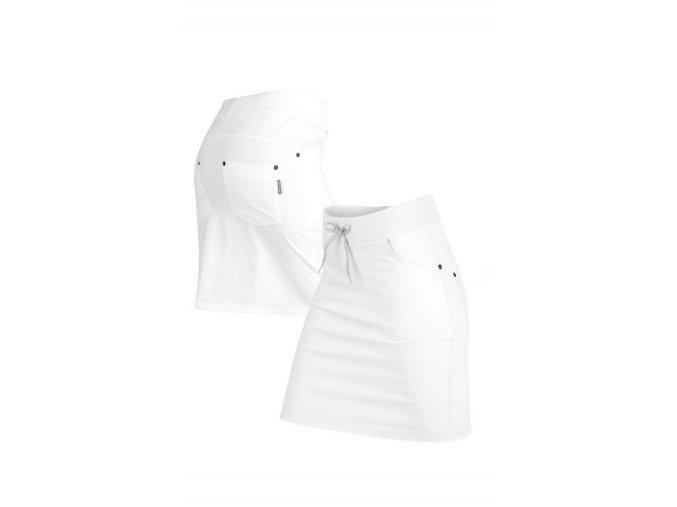 58211 bílá sportovní sukně litex