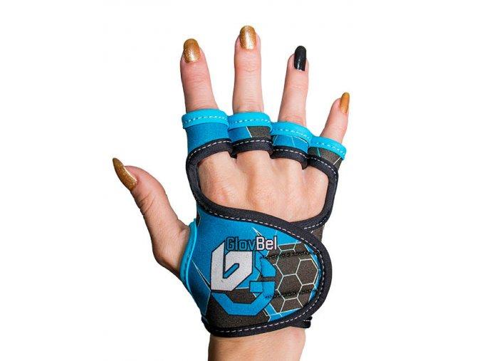 Dámské fitness rukavice GlovBel Blue 8 1