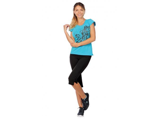 Černé sportovní kalhoty s rozparkem Draps Na Cvíčo 10