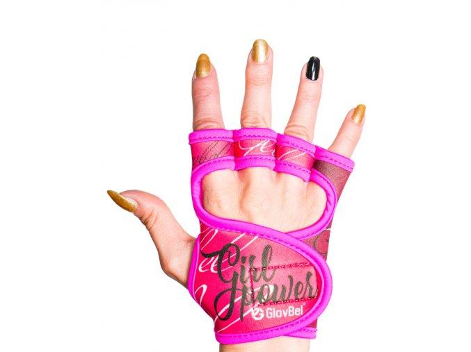 Dámské fitness rukavice Glovbel Pinky růžové 1
