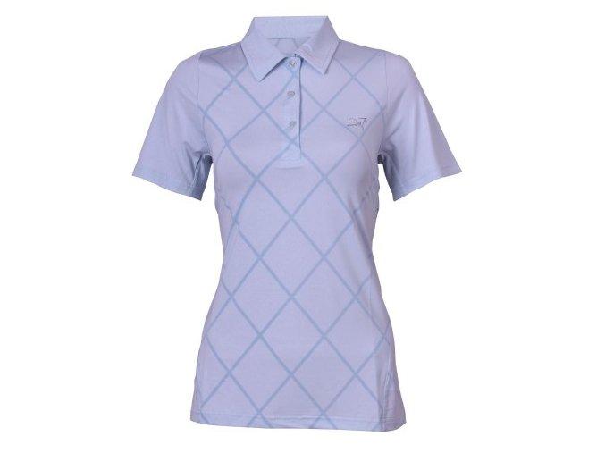 VÄLLINGE- dámské funkční triko s límečkem ledově modrá