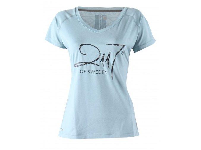 VARGÖN - dámské funkční triko s krátkým rukávem - modré melange