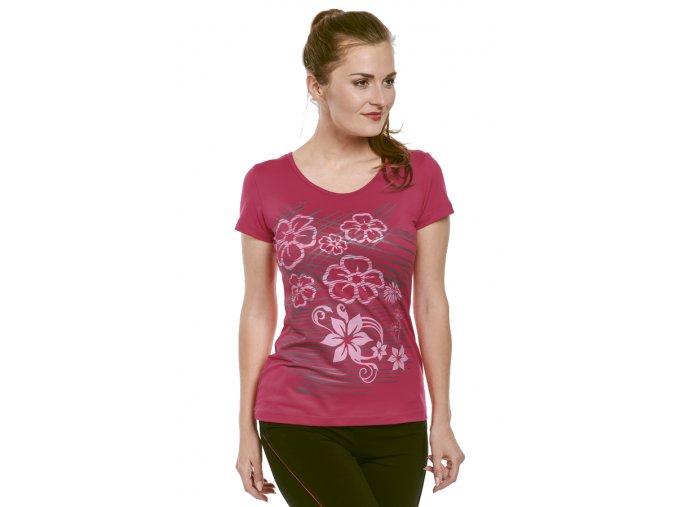 Červené tričko dámské Draps 57 1