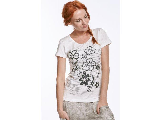 Dámské tričko bílé s potiskem Draps 57 1