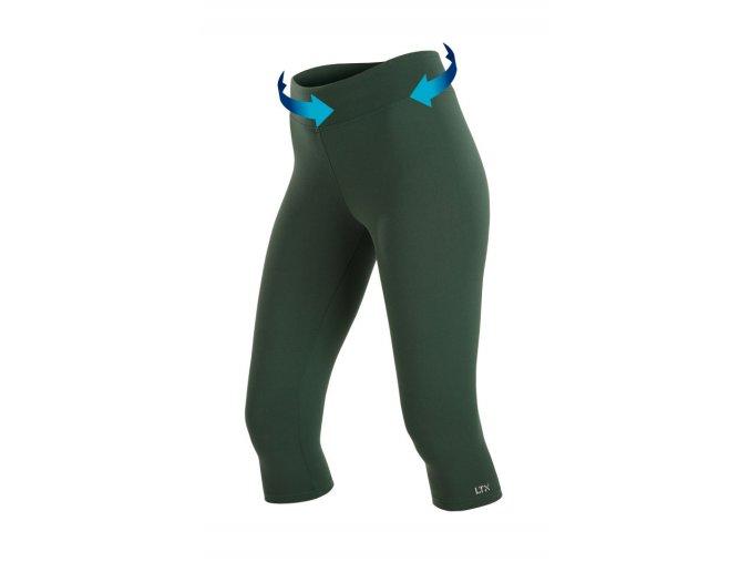 Zelené sportovní legíny Litex Supplex 58293