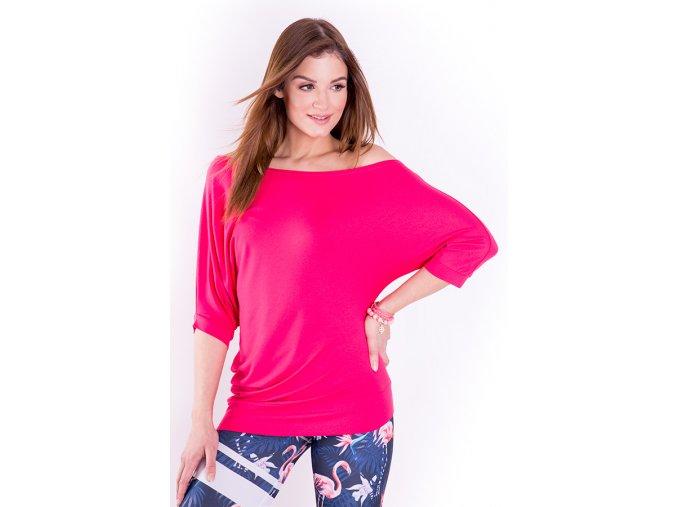 Taneční tričko dámské růžové Spontanic pink Na Cvíčo