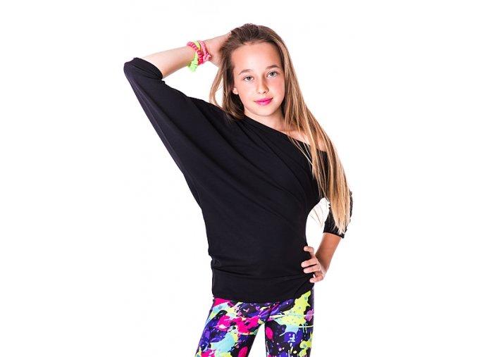 Dívčí taneční tričko 2skin Spontanic Black Na Cvíčo 1