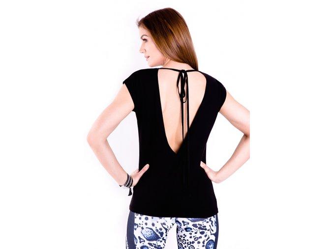 Černé tričko s odhalenými zády 2skin Na Cvíčo 1