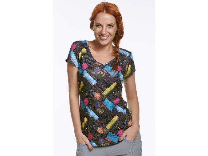 Sportovní dámské tričko s barevným potiskem Draps Na Cvíčo 1