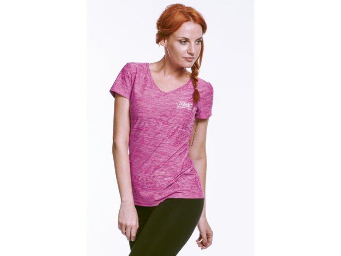 Růžové sportovní tričko Draps 49 Na Cvíčo 1