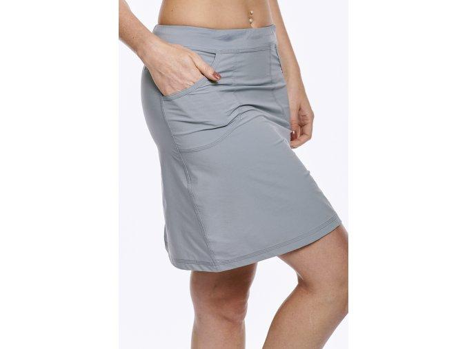 Sportovní sukně z funkčního materiálu šedá Draps 113 4