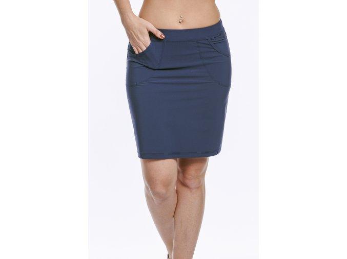 Sportovní sukně modrá z funkčního materiálu Silver Draps 1
