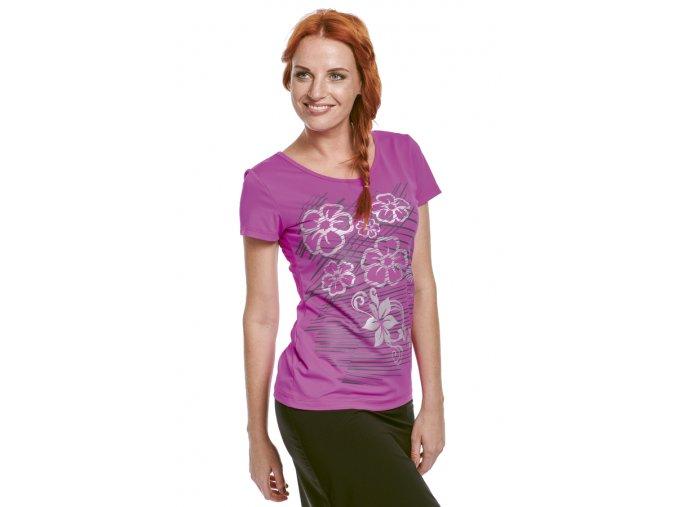 Fialové sportovní tričko funkční Draps 57 1