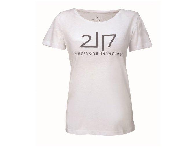 VIDA - dámské bavlněné triko s kr. rukávem - bílé