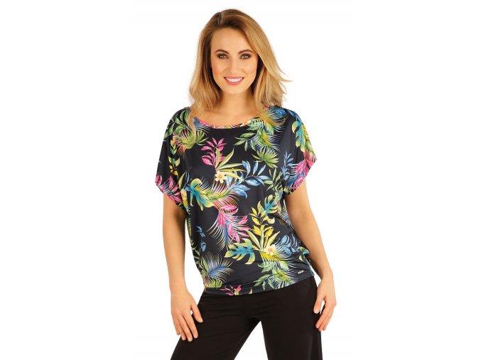 Dámské volné tričko s potiskem s krátkými rukávy Litex 5A181