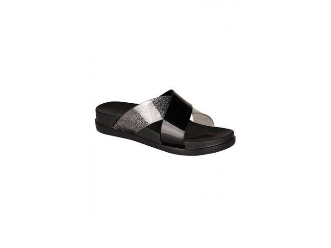 63763 dámské pantofle černé