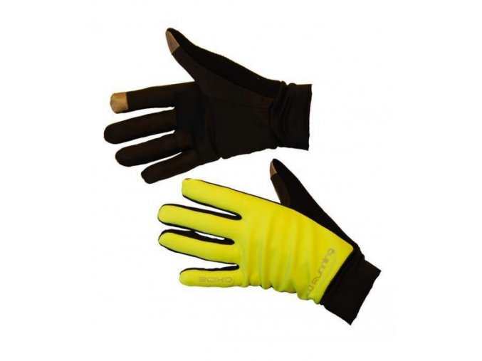 3994003 yellow běžecké rukavice
