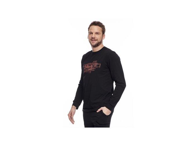 DR455BK pánská tričko dlouhý rukáv