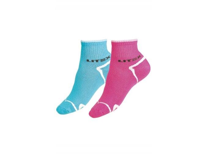 LITEX Sportovní ponožky polovysoké 99634 - tyrkysové