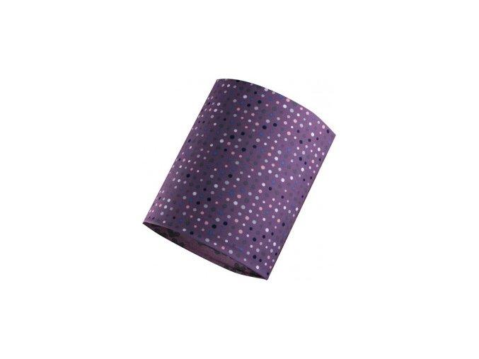 nákrčník fialový puntík