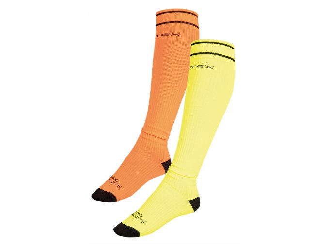 LITEX Sportovní kompresní podkolenky 99652 - žluté