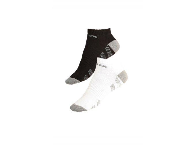 LITEX Sportovní ponožky nízké 99636 - bílá - šedá