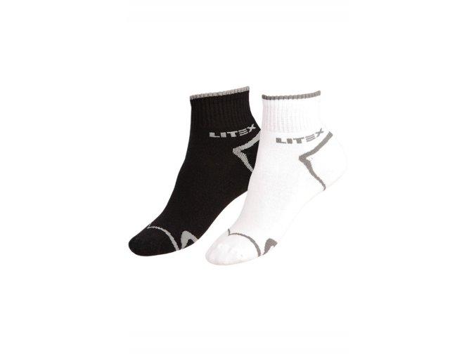 LITEX Sportovní ponožky polovysoké 9A009 - bílá