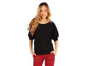 Černé triko s 3 4 rukávem Litex 54209