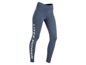 Modré legíny s nápisem na nohavici Litex 51241